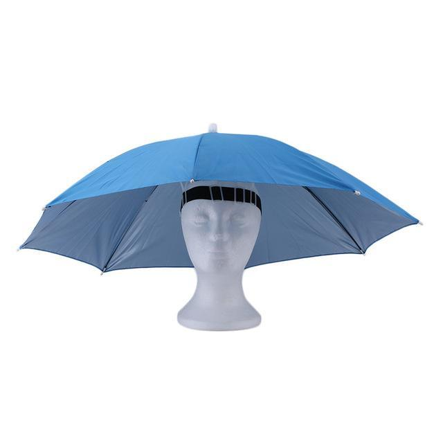 Portable Sports 69Cm Umbrella Hat Cap Folding Women Men Umbrella Fishing Golf-Hats-Bargain Bait Box-4-S-Bargain Bait Box