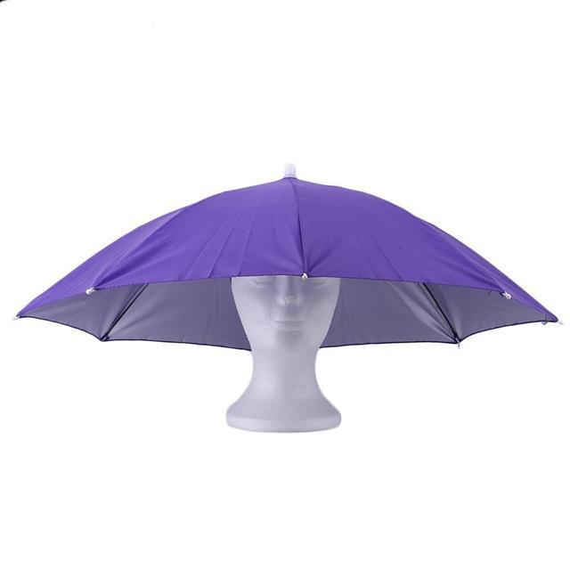 Portable Sports 69Cm Umbrella Hat Cap Folding Women Men Umbrella Fishing Golf-Hats-Bargain Bait Box-5-S-Bargain Bait Box