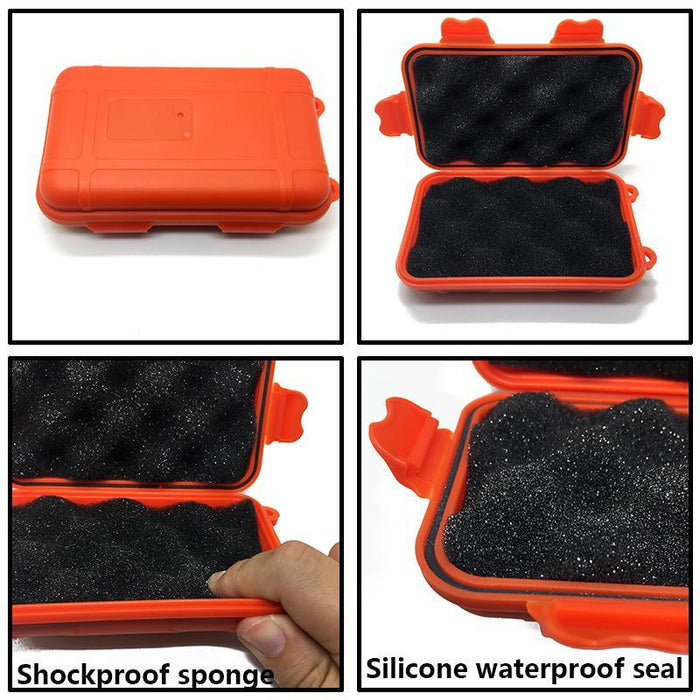 Portable Waterproof Shockproof Outdoor Airtight Storage Case Survival Tool-NO limite Store-S Orange-Bargain Bait Box