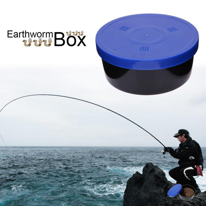 Pp Earthworm Box Live Bait Box With Breather Holes Plastic Fishing Tackle Fish-Fishing Bait & Chum Containers-Bargain Bait Box-Bargain Bait Box