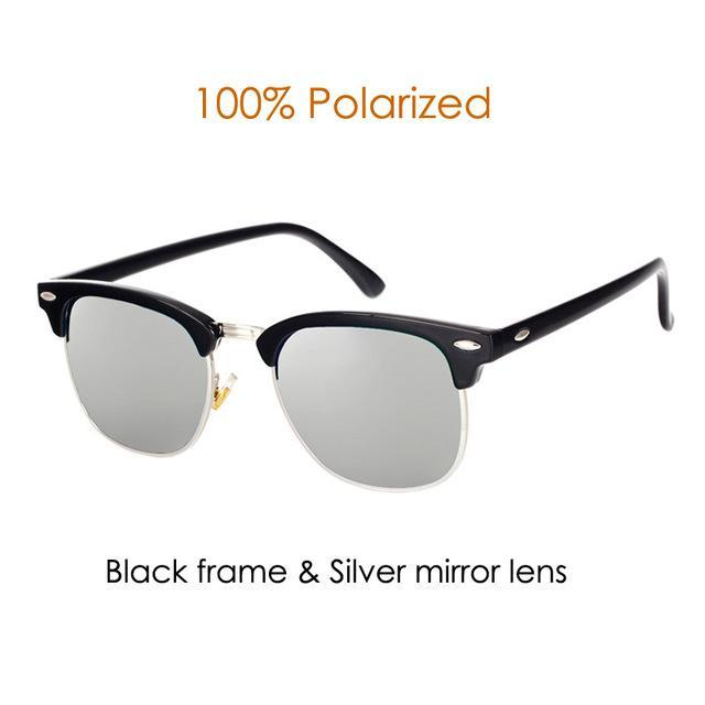 Pro Acme Classic Polarized Sunglasses Men Women Half Metal Mirror Unisex Sun-Polarized Sunglasses-Bargain Bait Box-C7-Bargain Bait Box