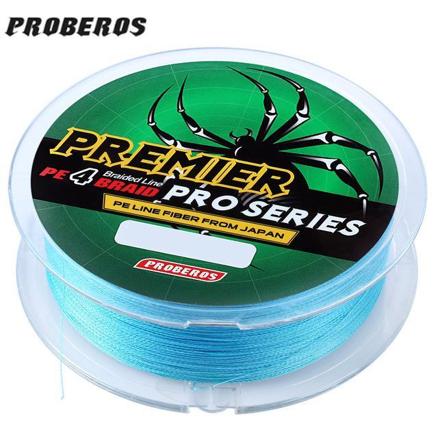 Pro Beros 100M Fishing Lines Pe Braid 4 Stands 6Lbs To 80Lb Multifilament-Monka Outdoor Store-Blue-0.4-Bargain Bait Box