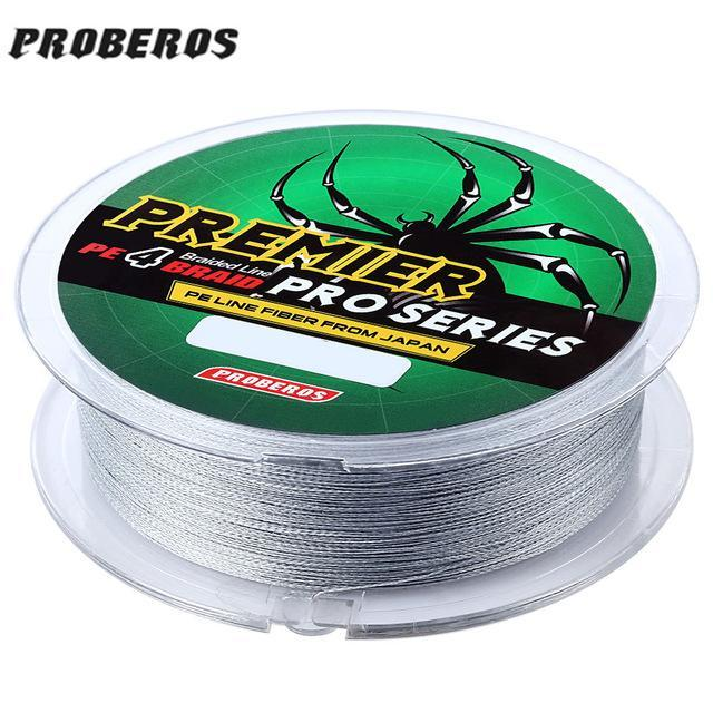 Pro Beros 100M Fishing Lines Pe Braid 4 Stands 6Lbs To 80Lb Multifilament-Monka Outdoor Store-Dark Grey-0.4-Bargain Bait Box