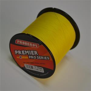 Pro Beros 300M Pe Multifilament Braided Fishing Line Super Strong Fishing Line 4-ElephantBikers Store-Yellow-0.4-Bargain Bait Box