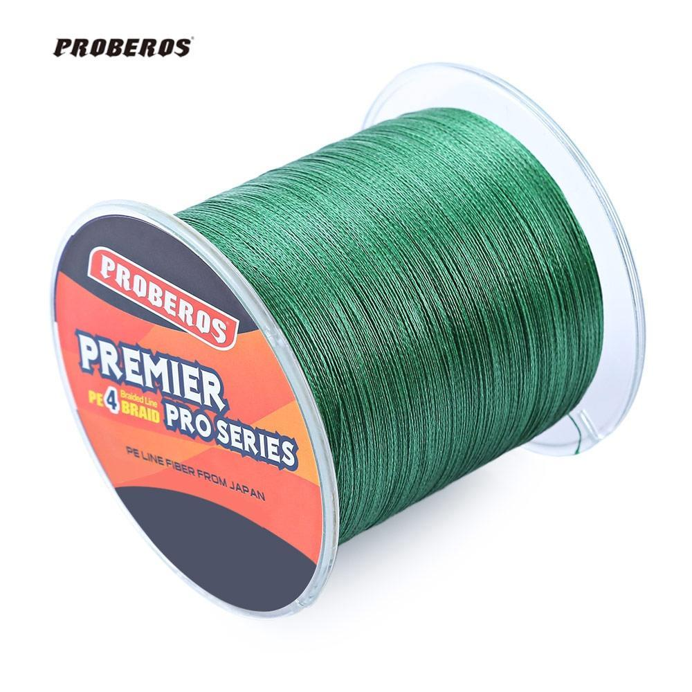 Pro Beros 500M Pe Braided Fishing Line 4 Stands Multifilament Fishing Line-Outl1fe Adventure Store-Red-0.4-Bargain Bait Box