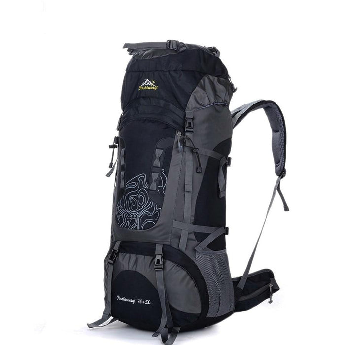 Professional Trekking Backpacks 80L Big Outdoor Sports Bag Waterproof Nylon-Climbing Bags-Alpscamping Store-Black Color-Other-Bargain Bait Box