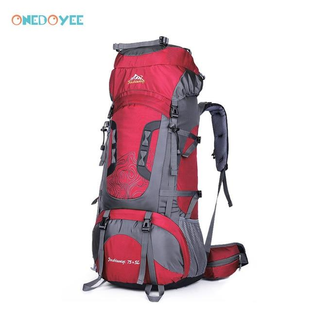 Professional Trekking Backpacks 80L Big Outdoor Sports Bag Waterproof Nylon-Climbing Bags-Alpscamping Store-Red Color-Other-Bargain Bait Box