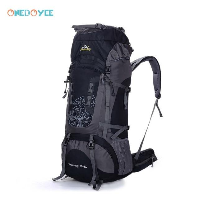 Professional Trekking Backpacks 80L Big Outdoor Sports Bag Waterproof Nylon-Climbing Bags-Alpscamping Store-Yellow Color-Other-Bargain Bait Box