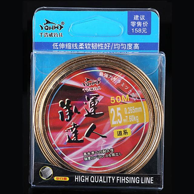 Promotion !50M Japanese High Quality Super Strong Nylon Fishing Line-LooDeel Outdoor Sporting Store-Green-0.4-Mainline-Bargain Bait Box