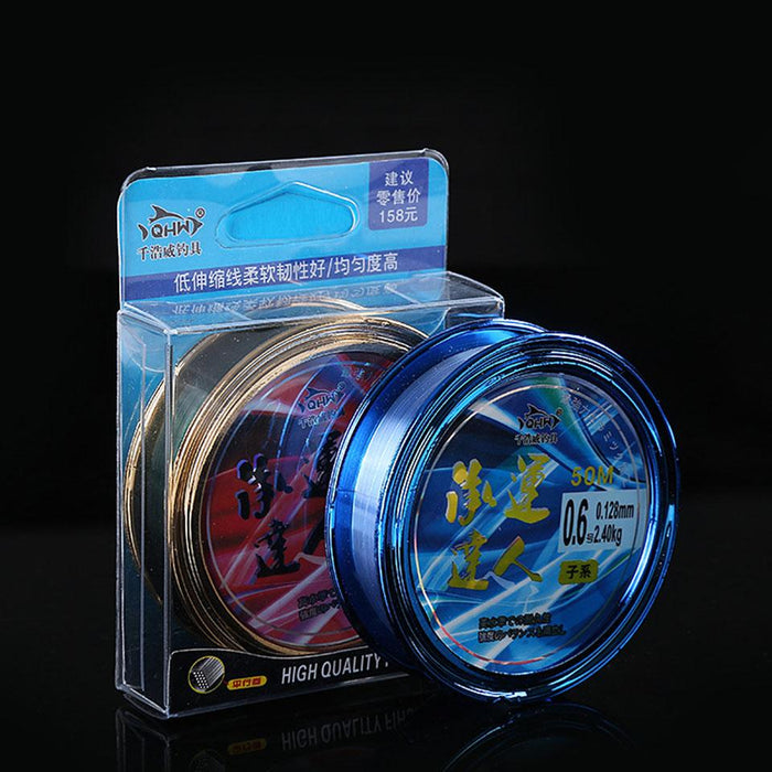 Promotion !50M Japanese High Quality Super Strong Nylon Fishing Line-LooDeel Outdoor Sporting Store-Transparent-0.4-Mainline-Bargain Bait Box