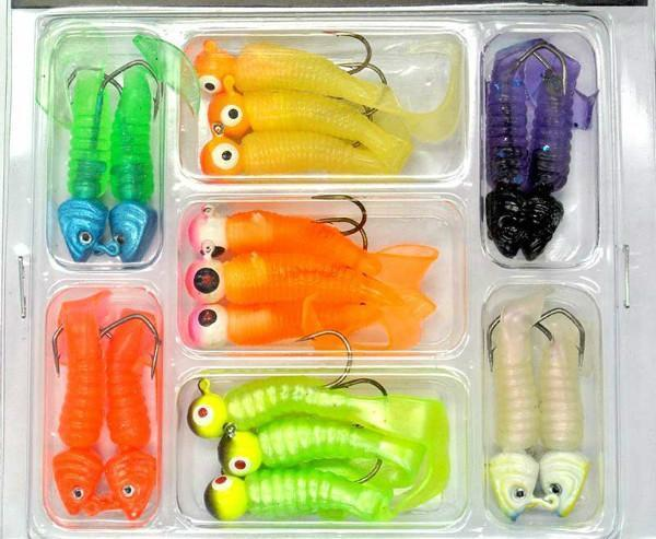 Promotions Lure Lead Head Hook Soft Bait Set Lure Kit Fishing Tackle-ZHANG 's Professional lure trade co., LTD-Bargain Bait Box