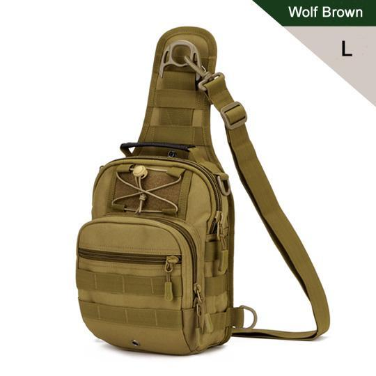 Protector Plus Sport Camping Man Bag Military Tactical Back Pack Outdoor-Protector Plus Tactical Gear Store-Wolf Brown L-Bargain Bait Box