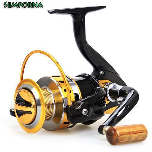 Ratio 5.5:1 Aluminum Spool Spinning Reel Fishing Reels Carp Boat Rock-Spinning Reels-Rompin Fishing Tackle Store-2000 Series-Bargain Bait Box