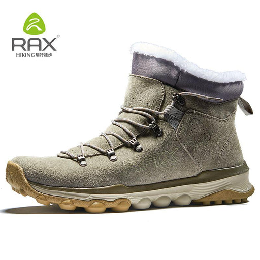 Rax Mens Warm Fleece Boots Walking Shoes Men Breathable Snow Boots Thermal-shoes-KL Sporting Goods Outlet Store-Qiankaqi boots men-6-Bargain Bait Box