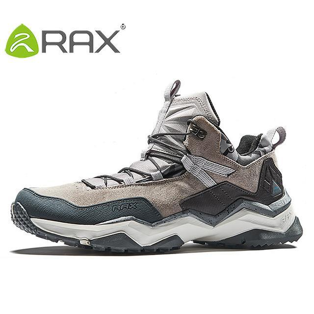 Rax Men'S Waterproof Hiking Shoes Climbing Backpacking Trekking Mountain Boots-Ruixing Outdoor Store-light grey-6.5-Bargain Bait Box