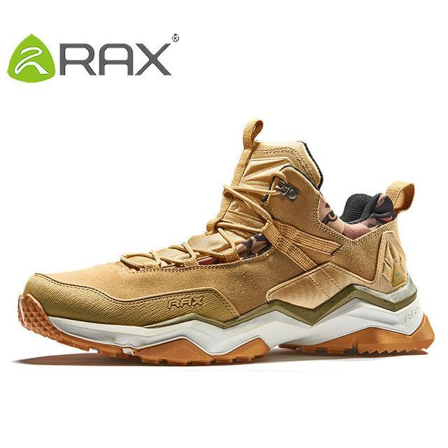 Rax Men'S Waterproof Hiking Shoes Climbing Backpacking Trekking Mountain Boots-Ruixing Outdoor Store-light khaki-6.5-Bargain Bait Box