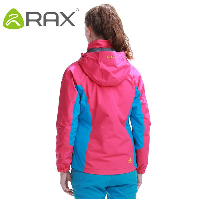 Rax Outdoor Warm Winter Woman Hiking Jacket 2 In 1 Waterproof Hiking Jacket-shoes-LKT Sporting Goods Store-fenhong jacket-S-Bargain Bait Box
