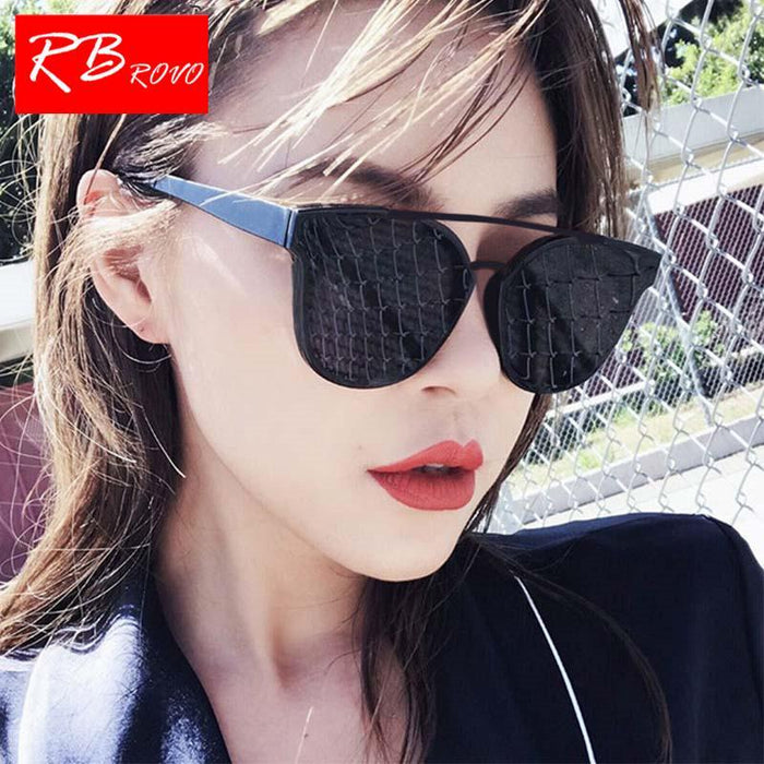Rbrovo Vintage Butterfly Sunglasses Women Luxury Plastic Ocean Lens Sun-Sunglasses-RBROVO Boutique Store-Black Gray-Bargain Bait Box
