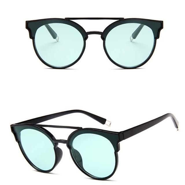 Rbrovo Vintage Butterfly Sunglasses Women Luxury Plastic Ocean Lens Sun-Sunglasses-RBROVO Boutique Store-Black Green-Bargain Bait Box