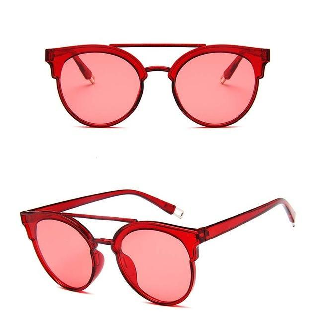 Rbrovo Vintage Butterfly Sunglasses Women Luxury Plastic Ocean Lens Sun-Sunglasses-RBROVO Boutique Store-Red-Bargain Bait Box