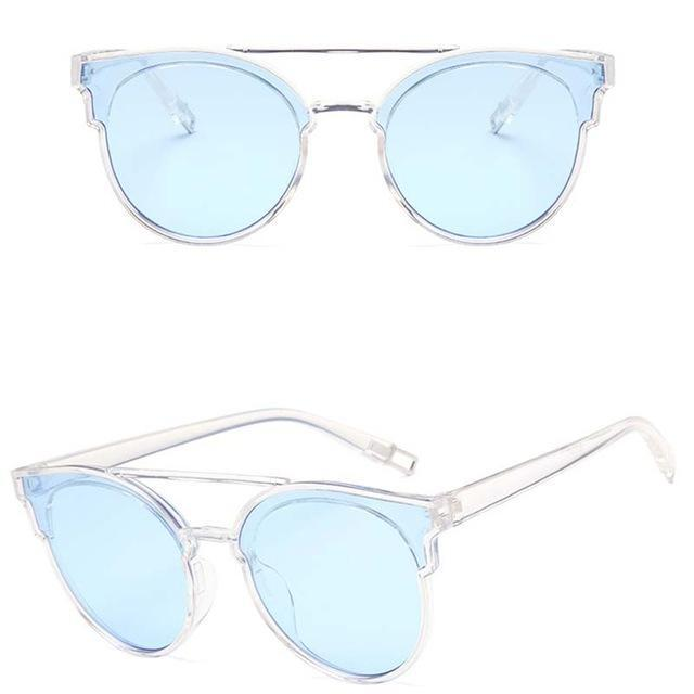 Rbrovo Vintage Butterfly Sunglasses Women Luxury Plastic Ocean Lens Sun-Sunglasses-RBROVO Boutique Store-Transparent Blue-Bargain Bait Box