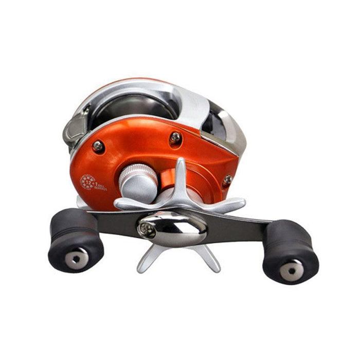 Right Or Left Hand Baitcasting Reel 12+1Bb 6.3:1 Bait Casting Fishing Reel-Baitcasting Reels-LooDeel Outdoor Sporting Store-Orange-Left Hand-Bargain Bait Box