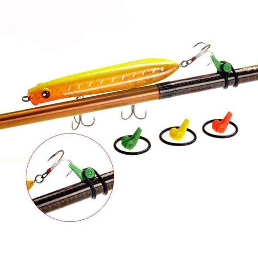 Rod Clip O-Shaped Ring Hook Keeper Portable Lot 3 Pieces-Hook Keepers-Bargain Bait Box-20mm Yellow 3 PCS-Bargain Bait Box