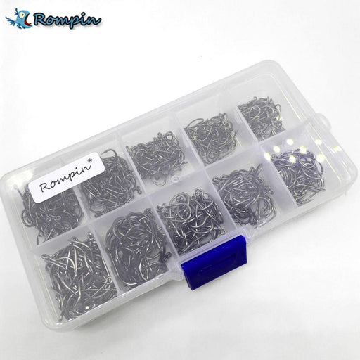 Rompin 500Pcs/Set Mixed Different Size With Plastic Box Packed #3~12 Bronzesea-Rompin Fishing Store-Bargain Bait Box