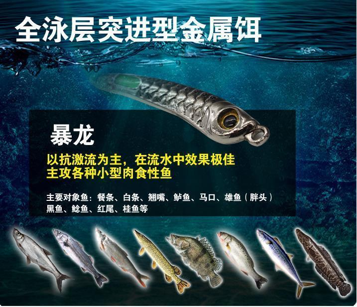 Rompin Design Submarine Jigging Lures Metal Fishing Lures Luminous Sound-Rompin Fishing Store-10g blue-Bargain Bait Box