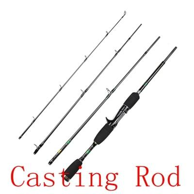 Rosewood 1.98M Fishing Rod 4 Sections Spinning Bait Casting Rod Travel High-Fishing Rods-ROSEWOOD Fishing Company Store-Purple-1.98 m-Bargain Bait Box