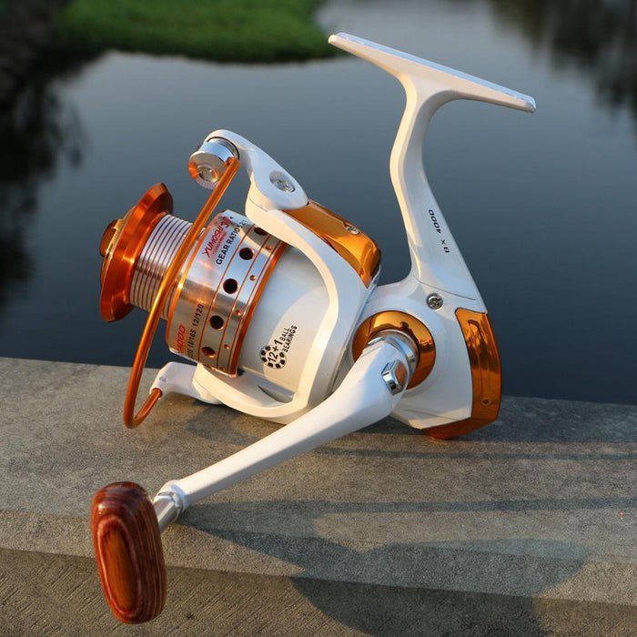Round Of 10 White Fish Masino 12+1 Axis Metal Rocker Arm Reel Reel Spinning-Spinning Reels-Sports fishing products-1000 Series-Bargain Bait Box