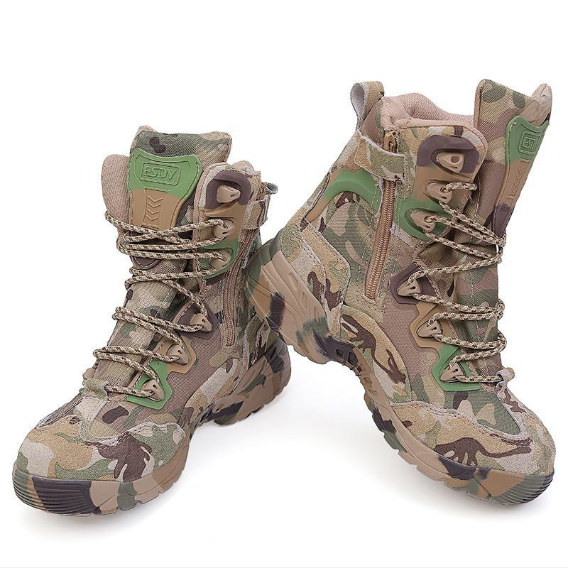 Rubber Boots Men 39-45 Outdoor Hiking Shoes Waterproof Tactical Shoes Camping-PEAKWILL store-6.5-Bargain Bait Box