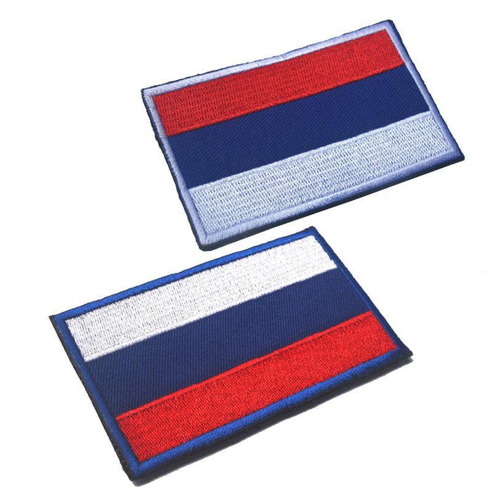 Russia Country Flag Outdoor Tools 3D Embroidery Hook Loop Fasten Cloth-explore world Store-1-Bargain Bait Box