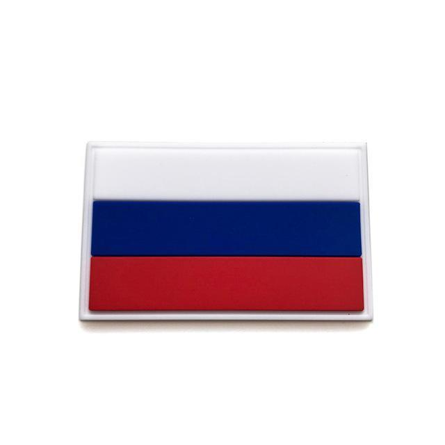 Russia Country Flag Outdoor Tools 3D Embroidery Hook Loop Fasten Cloth-explore world Store-4-Bargain Bait Box