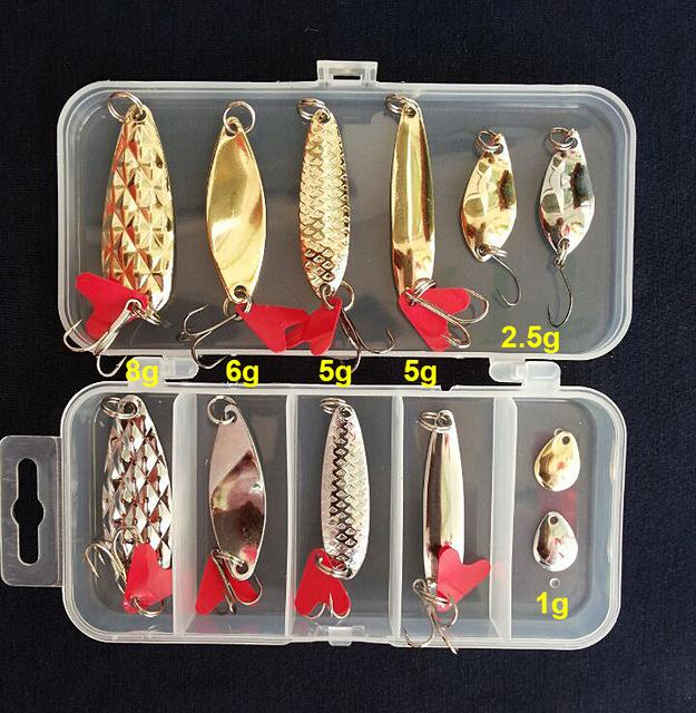 S Fishing Spoon Metal Lure Bait Sequins Kit Suits S/Style/Weight Spinner-Hard Bait Kits-Bargain Bait Box-A-Bargain Bait Box
