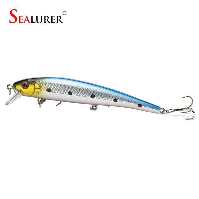 S Sealurer Hot Model Fishing Lures 13Cm/19G Swimbait Jointed Bait Minnow 5-SEALURER Official Store-colorD-Bargain Bait Box