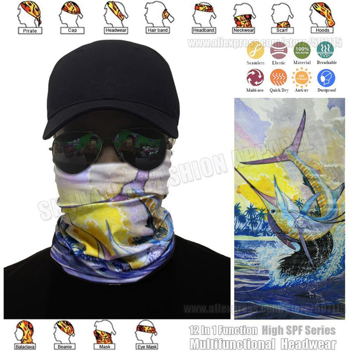 Sailfish Tube Scarf Tubular Bandana Anti-Uv Fishing Balaclava Billfish Face-Face Shields-Bargain Bait Box-Bargain Bait Box