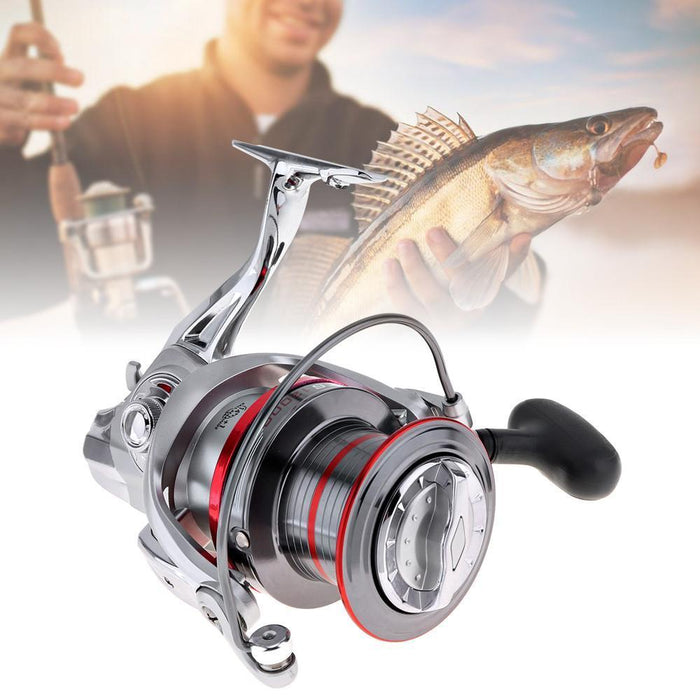 Sales Full Metal Spinning Fishing Reel 12000 Series 14+1 Ball Bearing Long-Spinning Reels-AgileDragon Outdoor Equipment Store-Bargain Bait Box