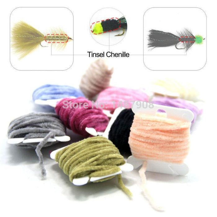Sams Fly Tying Body Materials Tinsel Rayon Chenille Yarn 2Mm Small For Woolly-Fly Tying Materials-Bargain Bait Box-Bargain Bait Box