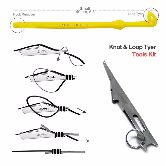 Samsfx Tie Fast Knot Tying Tool And Loop Tyer Hook Tier For Fly Fishing Tying-SAMSFX Official Store-Bargain Bait Box