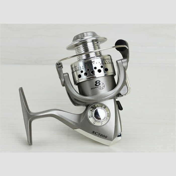 Sc1000-5000 Spinning Fishing Reels 8Bb Fishing Wheel High-Quality 5.5:1 Sea-Spinning Reels-SkyWalkerHome Store-1000 Series-Bargain Bait Box