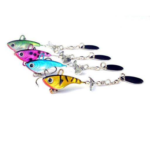 Sea 12G Lead Jig Head Fish Vib Spinner Baits Spoon Lures-Panfish Jigs-Bargain Bait Box-Purple Red-Bargain Bait Box