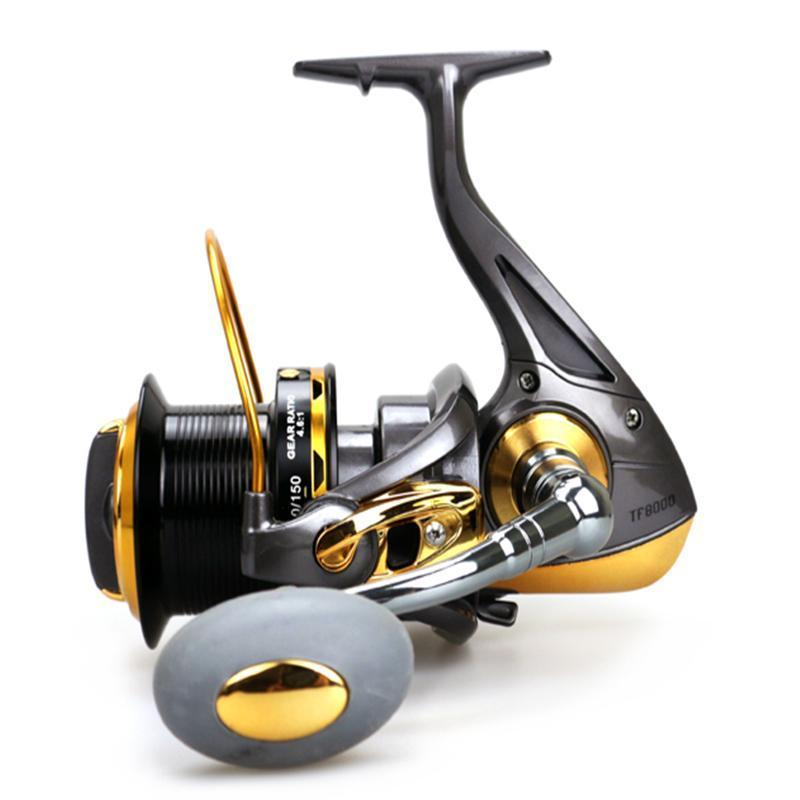 Sea Fishing Reel 12Bb+1Rb Surfcasting Fishing Reel Long Distant Wheel For-Spinning Reels-Sports fishing products-8000 Series-Bargain Bait Box