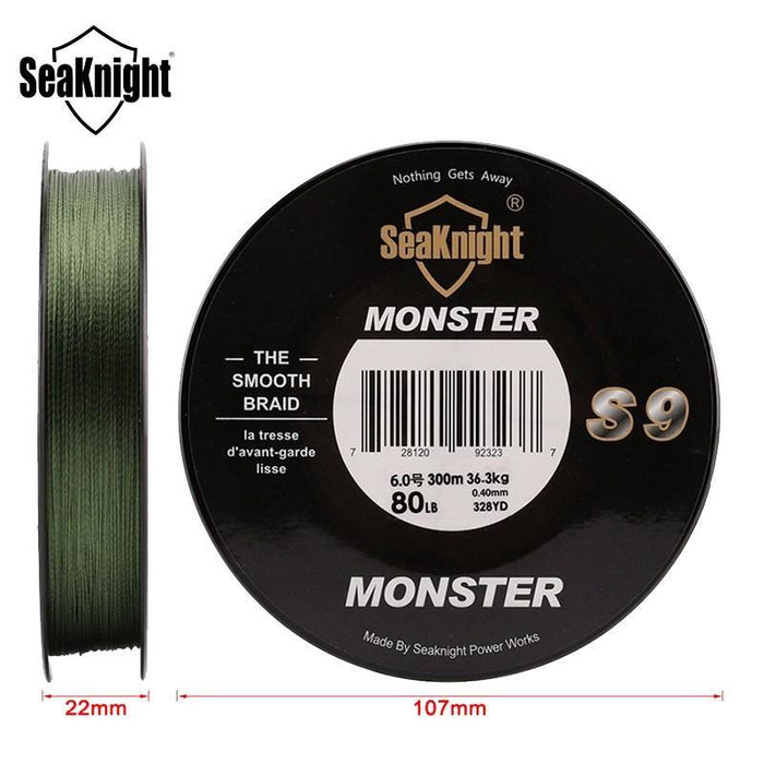 Seaknight Monster S9 300M 30-100Lb Pe Multifilament Fishing Line 9 Strand Weaves-Angler & Cyclist's Store-1.0-Bargain Bait Box