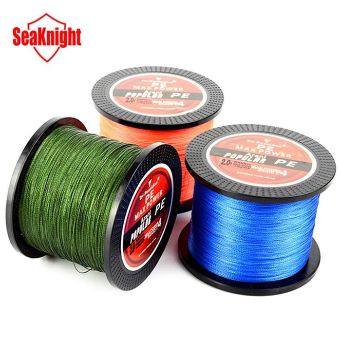 Seaknight Tri-Poseidon 1000M Pe Braided Line Japan Multifilament Floating-Angler & Cyclist's Store-White-0.4-Bargain Bait Box