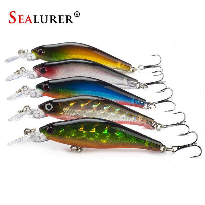 Sealurer 5Pcs/Lot Fishing Lures 8Cm/6G 5Colors Crankbaits Swimbaits Jerkbaits-SEALURER Official Store-Bargain Bait Box