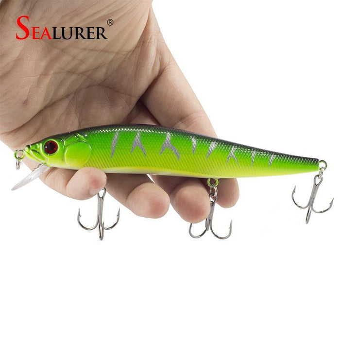Sealurer Brand Floating Fishing Minnow Lure 14Cm 23G Carp 2# Hooks 3D Eyes Pesca-SEALURER Perpetual Store-A-Bargain Bait Box
