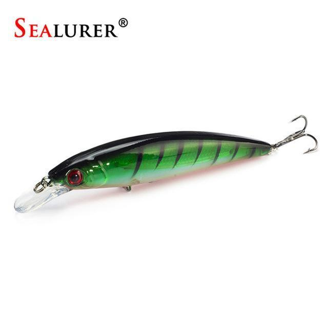 Sealurer Floating Wobbler Laser Minnow Fishing Lure 11Cm 13.5G Artificial-Shop1513314 Store-B-Bargain Bait Box