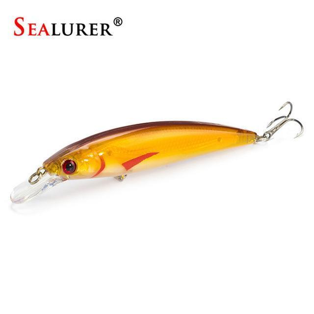 Sealurer Floating Wobbler Laser Minnow Fishing Lure 11Cm 13.5G Artificial-Shop1513314 Store-C-Bargain Bait Box