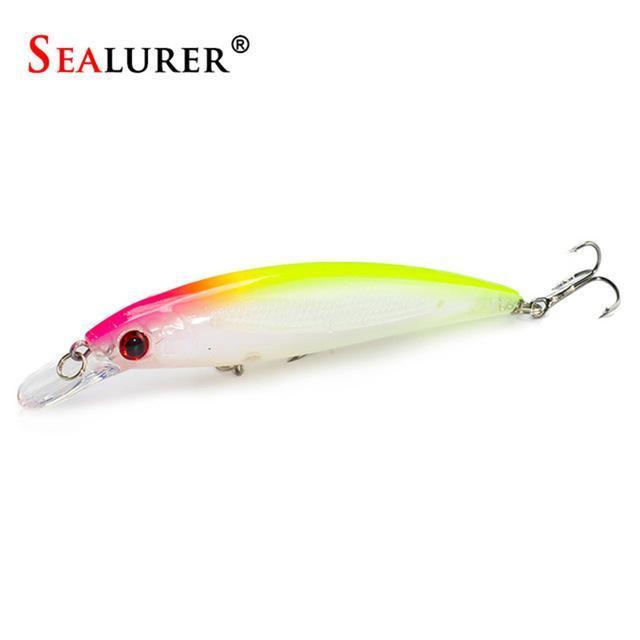Sealurer Floating Wobbler Laser Minnow Fishing Lure 11Cm 13.5G Artificial-Shop1513314 Store-D-Bargain Bait Box